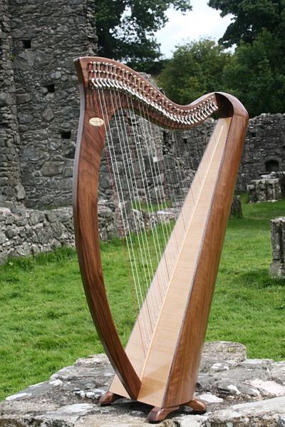 EALA handmade Irish harp